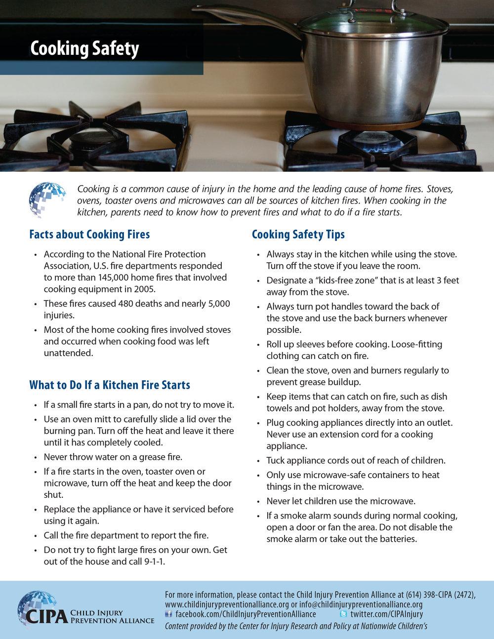 Cooking Safety — Child Injury Prevention Alliance