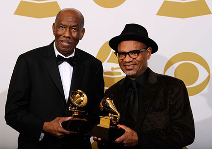 Grammy winners Jerry Peters (left) and Kirk Whalum (Right).  Source: http://www.zimbio.com/photos/Kirk+Whalum/Jerry+Peters
