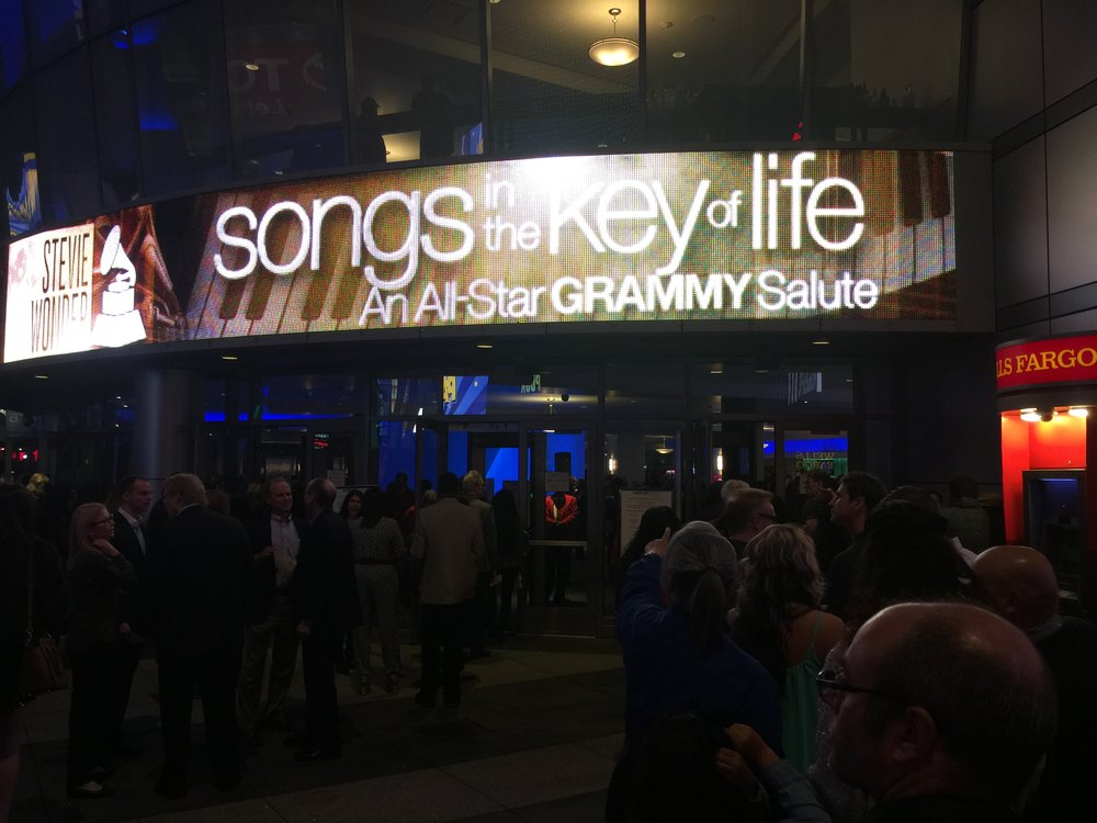 "February 10, 2015 taping for ""Stevie Wonder: Songs In The Key Of Life: An All-Star GRAMMY Salute"" at Nokia Theatre L.A. Live."