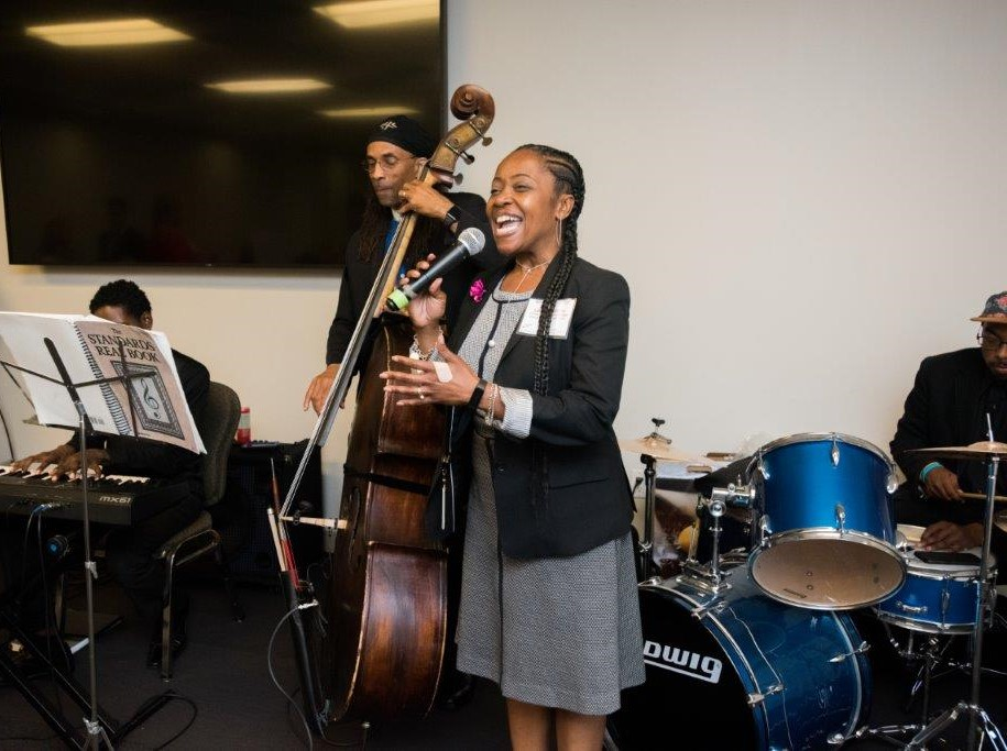 Latrice and the band at Scholarship reception 2.jpg