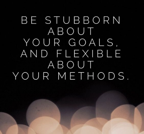 Be Stubborn about Your Goals - be flexible with methods.jpg