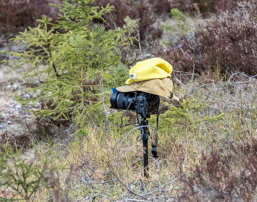 2xHaglöfs suojasi kameraa (Nikon D800E+Tamron 15-30mm f2.8) - pidin keltaista pipoa siinä muutenkin päällä näkyvyyden vuoksi.