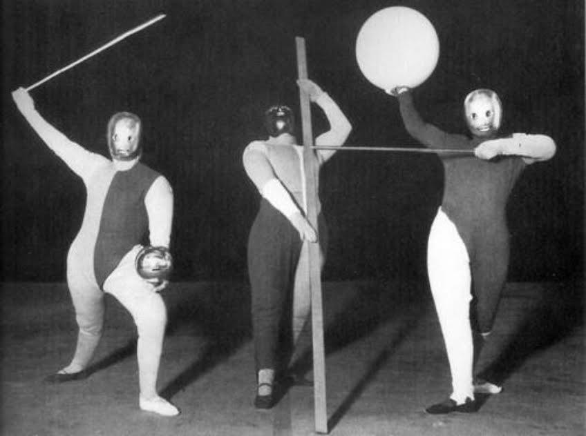 La Danse des Formes, Oskar Schlemmer, Werner Siedhoff, Walter Kaminsky,  costumes by Kazimir Malewicz, circa 1920