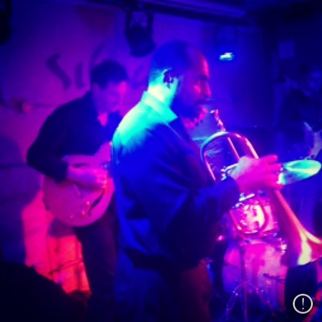 See the unstoppable Carlos Francis on the #trumpet tomorrow  with us at the Lincoln Inn in Jersey City 9pm-12am. Double bill with D Plumbers, we play 10pm-11pm. #emilyandtheideals #soulmusic #horns #originalmusic  #jc #lincolninnjc