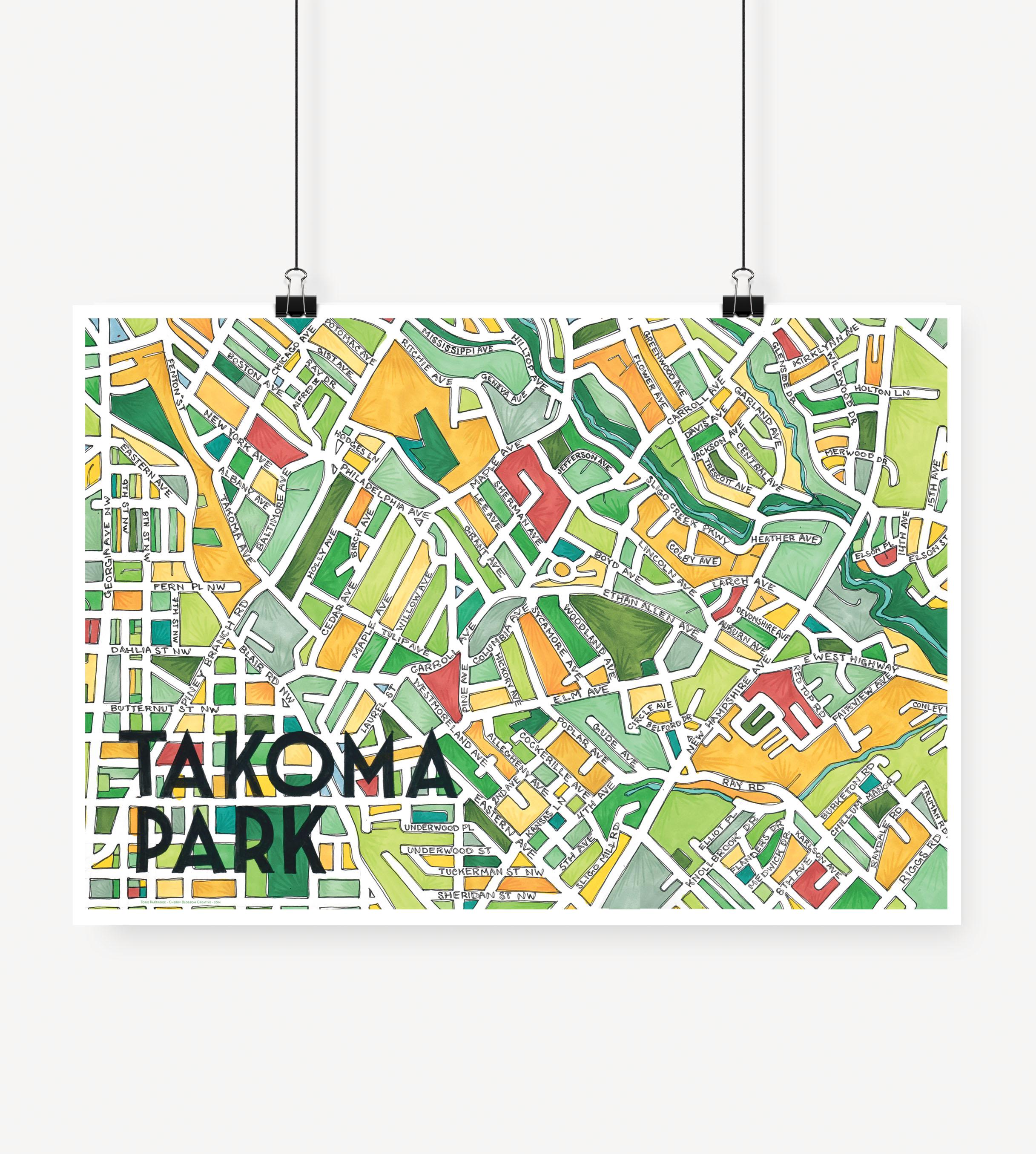 Cherry Blossom Creative — Takoma Park Print on