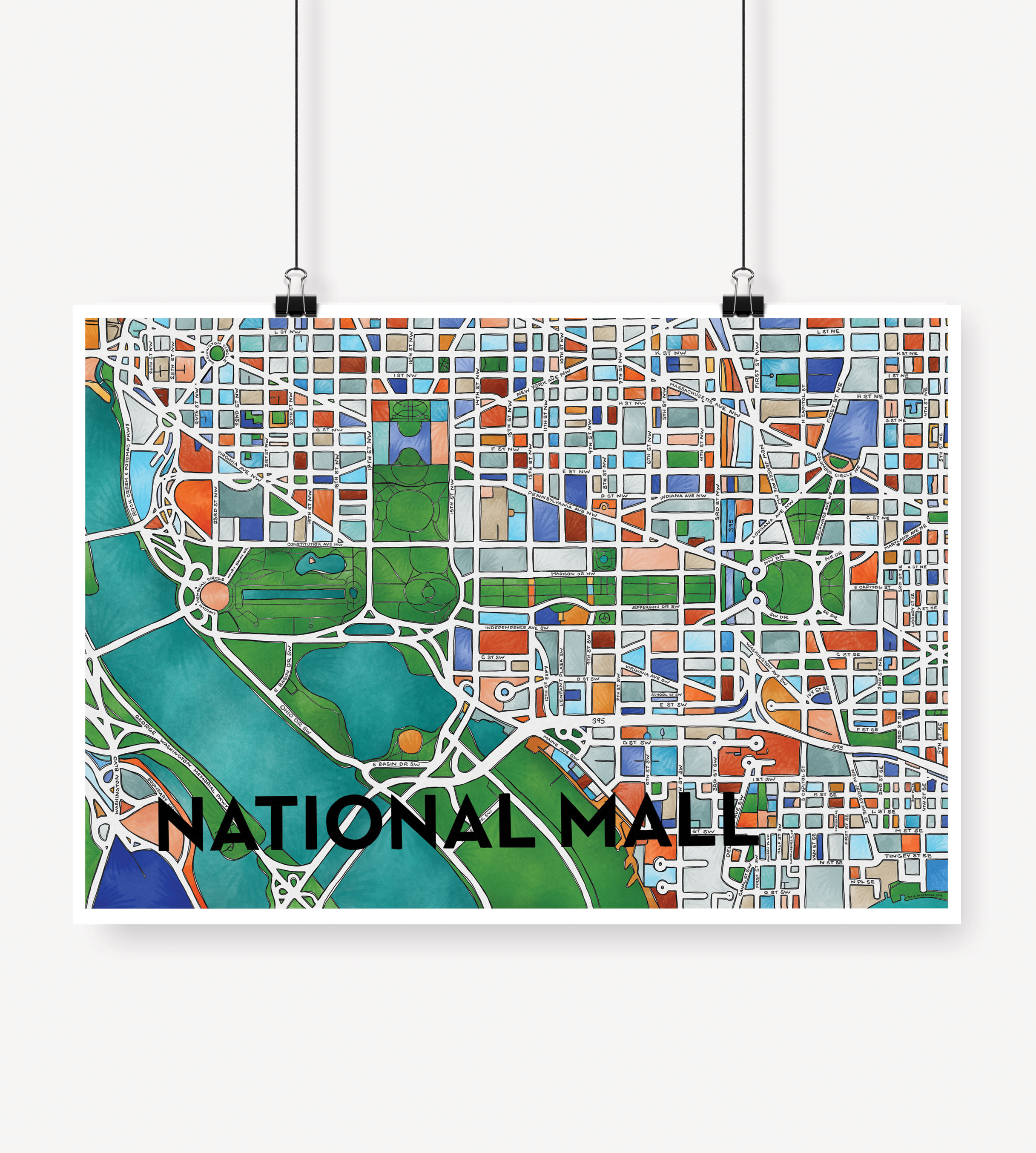 graphic about National Mall Map Printable named Cherry Blossom Artistic Countrywide Shopping mall Print