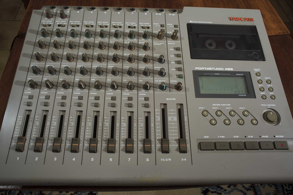 Ah, the glorious Tascam 488.  We used the highest grade cassettes we could find, but it would work with cassettes you got at the gas station.  Love this thing.  We later upgraded to the MKII, which we'd push to its limits on mid-period Rockwells recordings.
