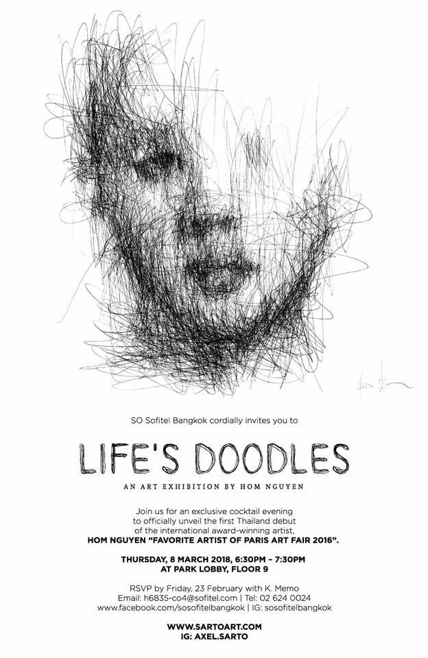 Life's Doodles - BANGKOK8th March – 12th April 2018SO SOFITEL2 North Sathorn Road, Bangrak, Bangkok 10500