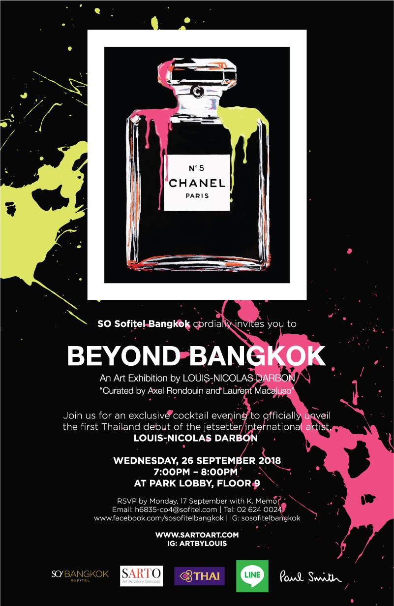 Beyond Bangkok - BANGKOK26th September – 15th November 2018SO SOFITEL2 North Sathorn Road, Bangrak, Bangkok 10500