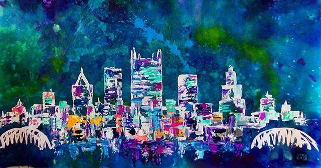best city in the world 😍 . . New @baron_batch artwork available for purchase! Email bryer@studio-am.com for inquiries !