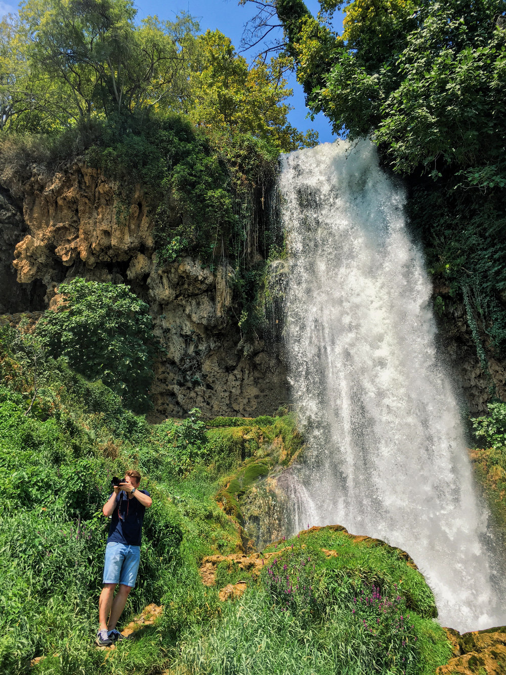 Me in front of a waterfall in Edessa