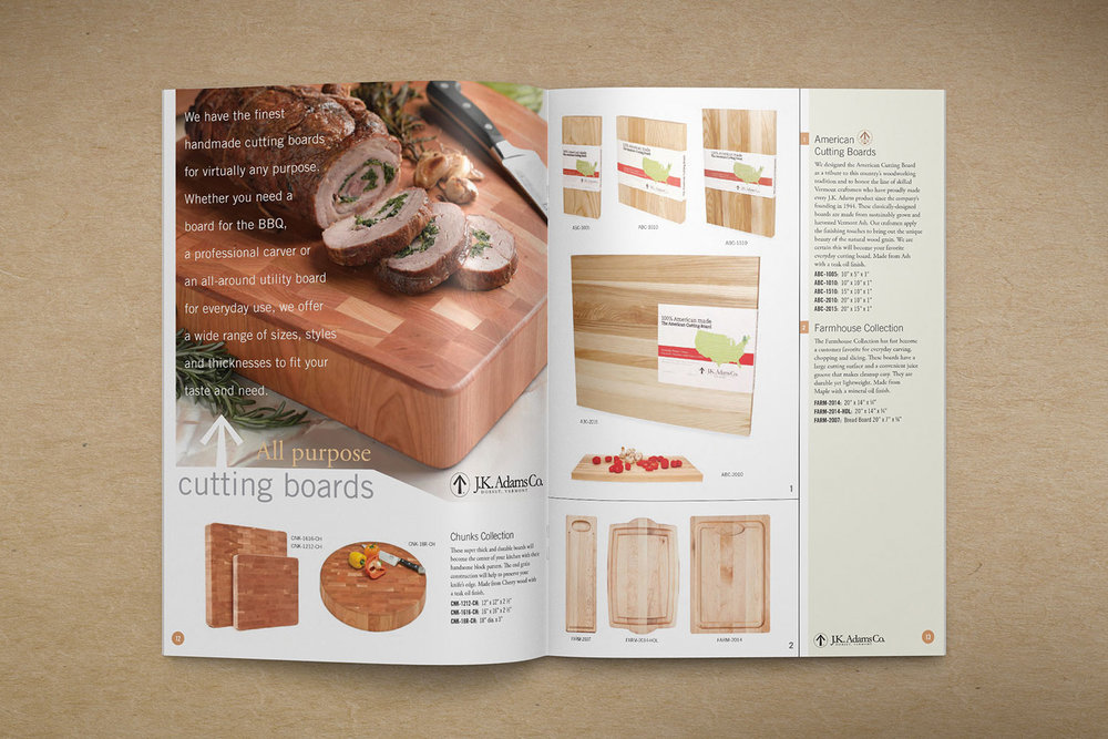 2013 J.K. Adams Catalog Spread