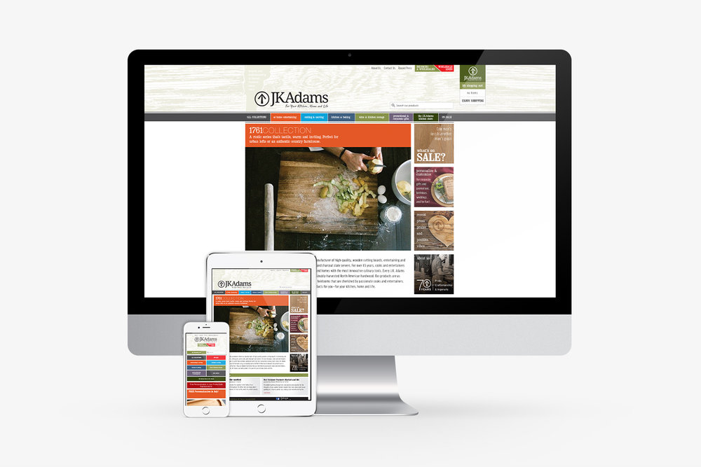 J.K.Adams Website Design