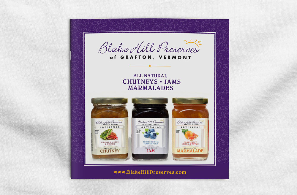 Blake Hill Preserves Collateral Design