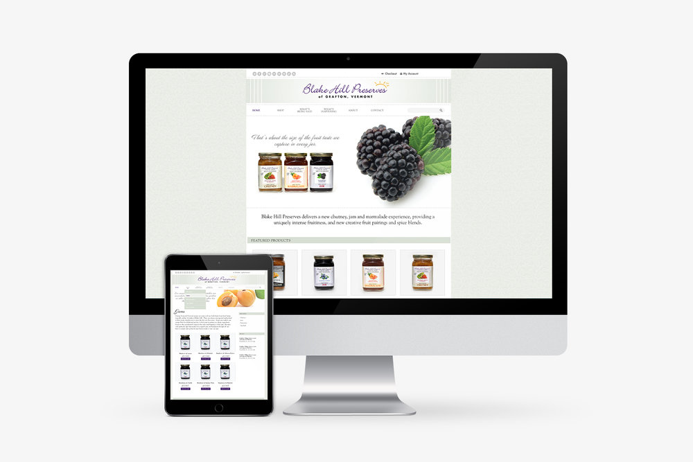 Blake Hill Preserves website design