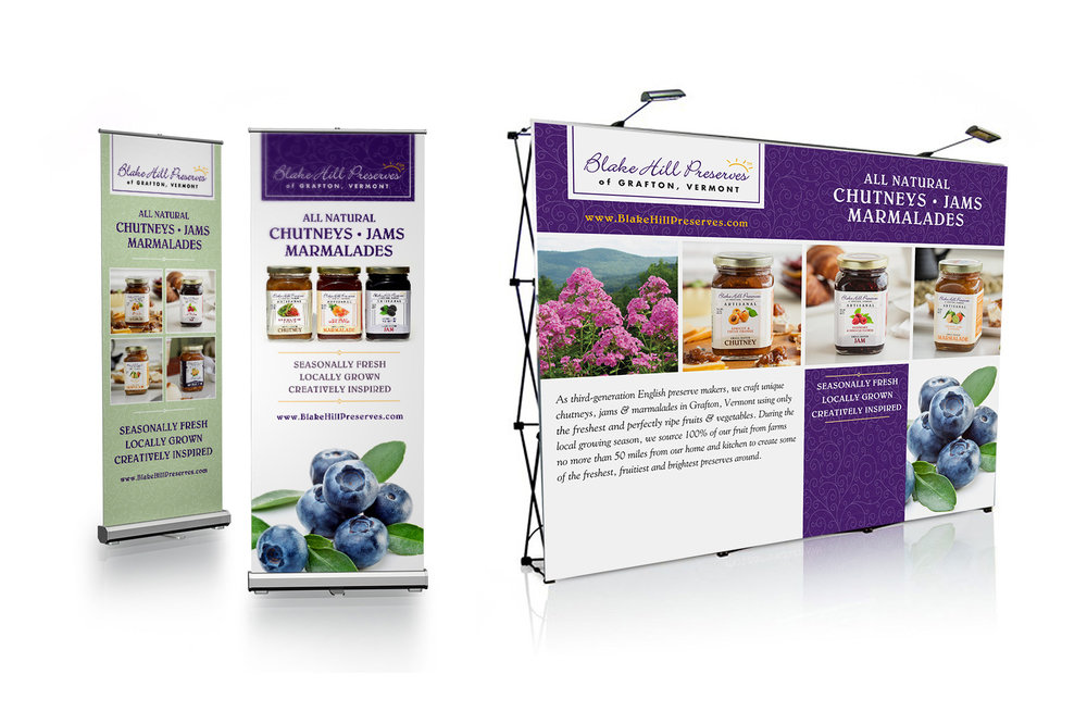 Blake Hill Preserves tradeshow booth design