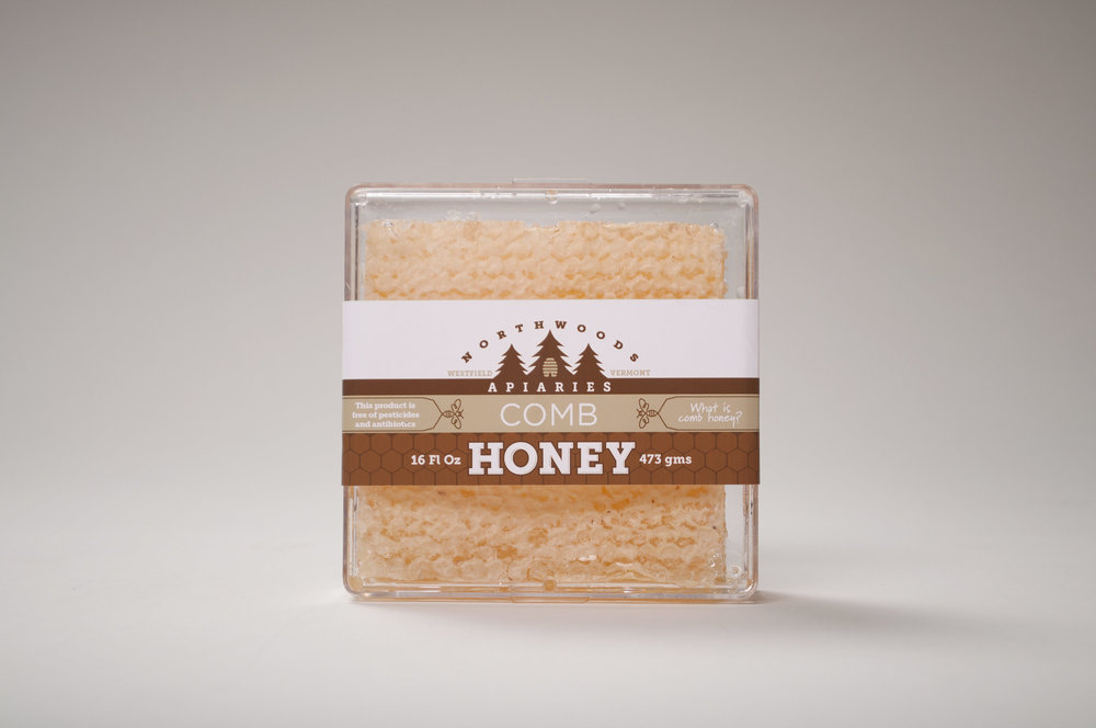 Northwoods Apiaries Honey Comb Packaging