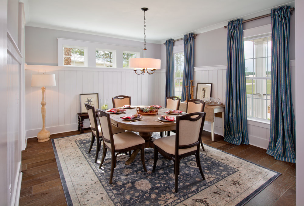 Dining Room, Firethorn Model Home, 225 Bumble Way.  Summers Corner, Summerville, SC.