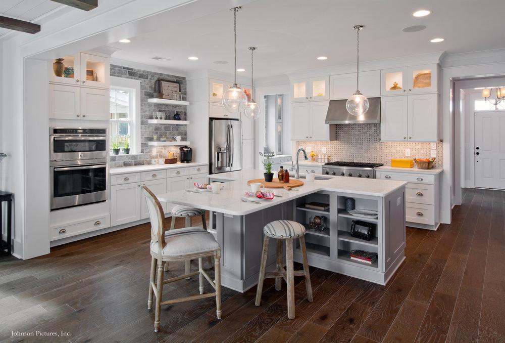 Kitchen, Firethorn Model Home, 225 Bumble Way.  Summers Corner, Summerville, SC.