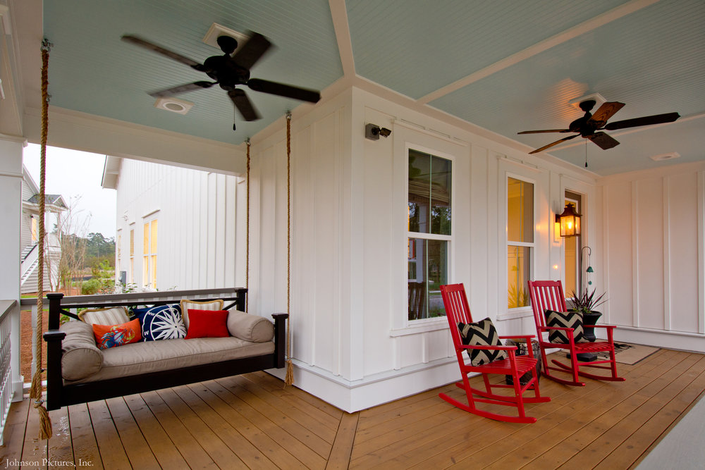 The Camelia model for Sabal Homes is everything a front porch should be!