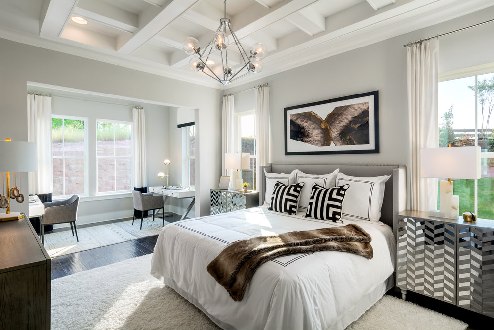 Owners Suite, Virtuoso Model Home.  Forge Creek at Flowers Plantation, Clayton, NC.