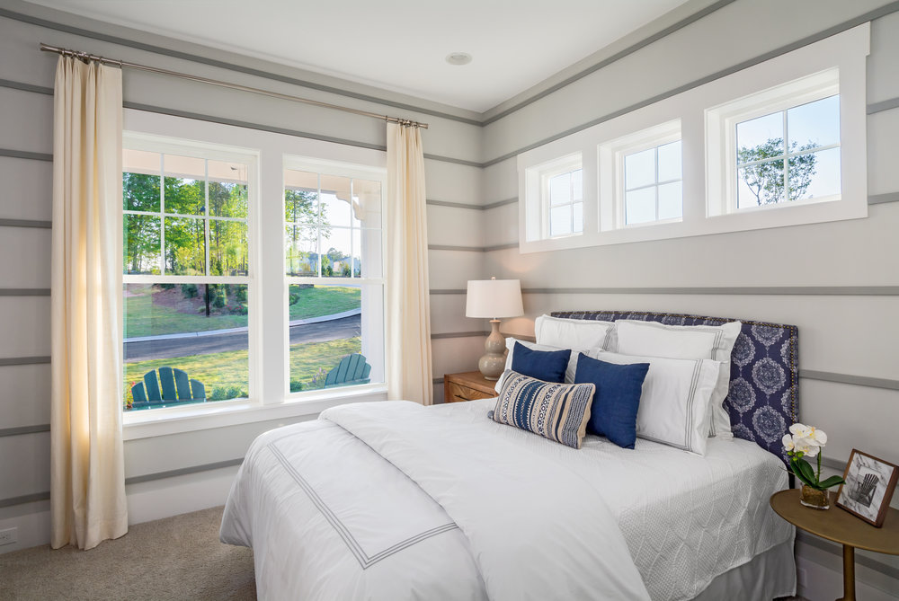 Bedroom 2, Enthusiast Model Home.  Forge Creek at Flowers Plantation, Clayton, NC.