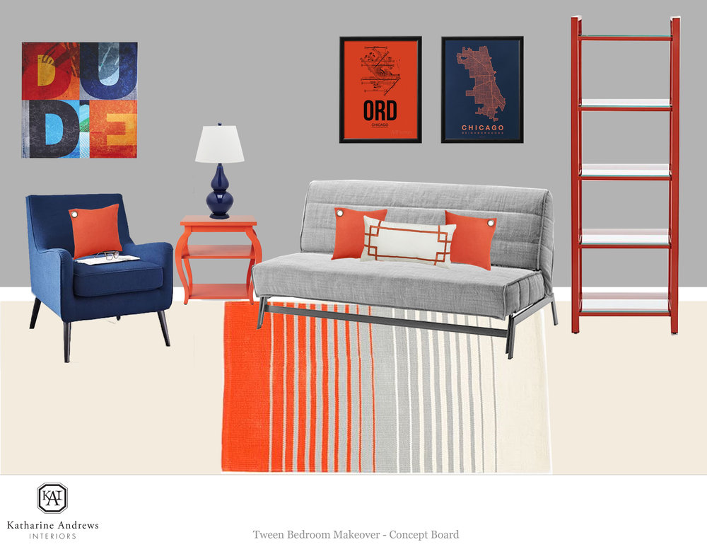 VANEK_INSPIRATION BOARD_FUTON WALL W BLUE CHAIR GLASSES AND ORANGE SIDE TABLE_EDIT.jpg