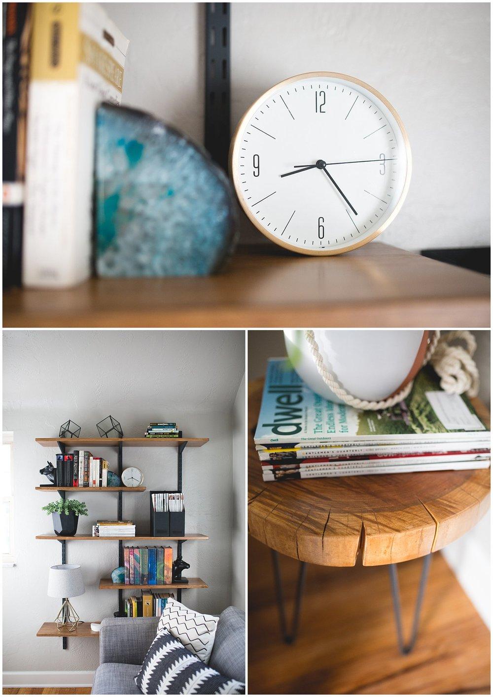 DIY shelves, DIY home renovations, mid century modern
