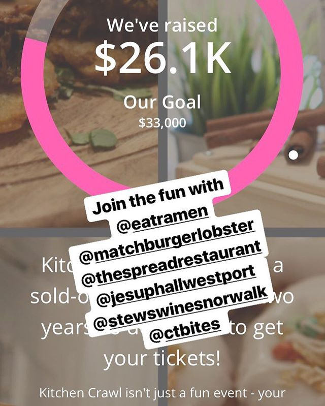 Getting so close to #ourgoal in support of @foodrescueus.fc !! 🎟🎟 Link in bio ⬆️ Come join the party next SAT 9/29 with @eatramen @matchburgerlobster @jesuphallwestport @thespreadrestaurant @ctbites @daigletravers @stewswinesnorwalk @makaiden @robinbarrie #judymichaelisrealtor #judymichaelisgroup #judymichaelisevents #westportkitchencrawl #westport #westportct #06880