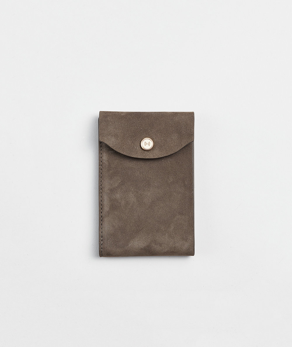 corie humble skagen wallet gray suede