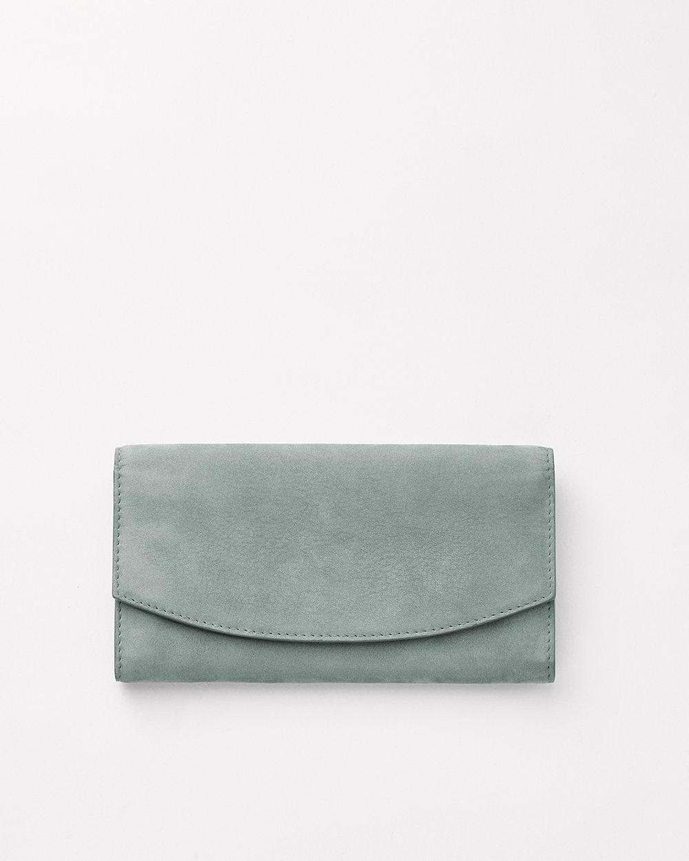corie humble skagen wallet blue suede