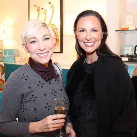 We spy Christina and interior designer friend Rina Pertusi in Serendipity Magazine at the Johnathan Adler event in December.