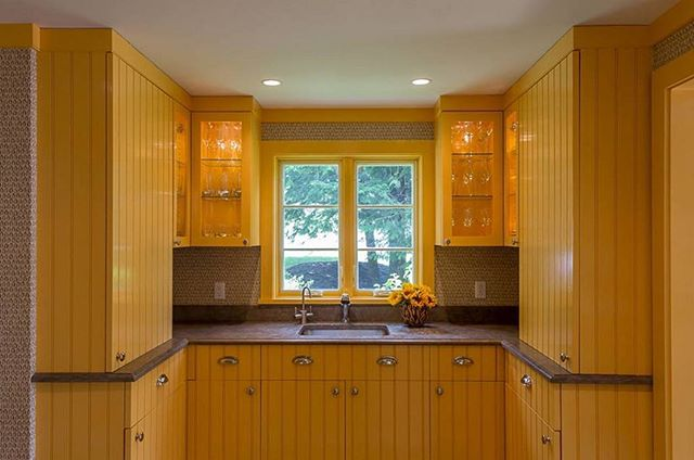 Good morning!☀️💛 Feeling inspired today by #SemolinaYellow @benjaminmoore - Pantry from a Stratton, VT project. Design by Forehand + Lake @forehand_lakedesign