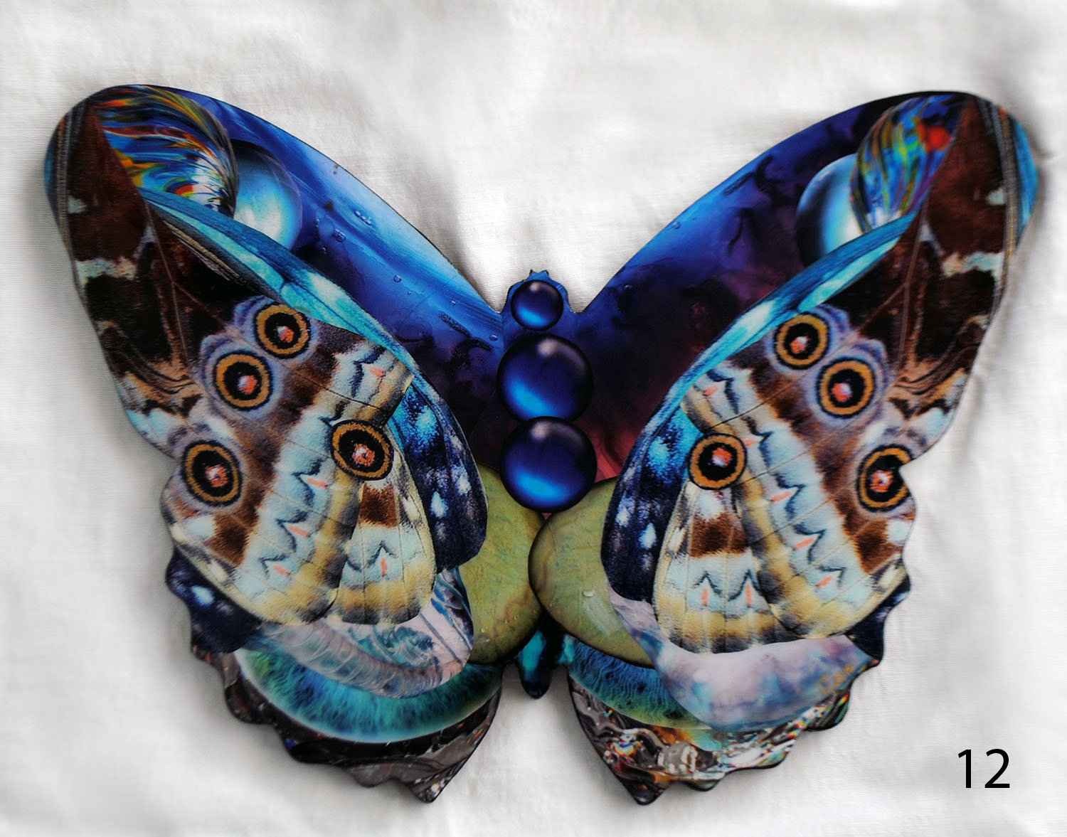 Metamorphosis. Butterfly-Collage ©2015 Carolina Luciano