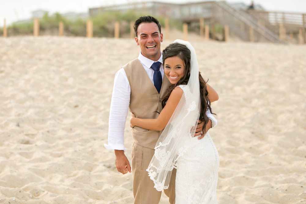 Adrienne + Chris; Kill Devil Hills Beach Wedding