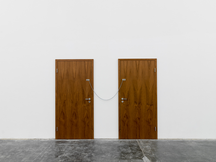 Powerless Structures, Fig. 137, 2015 | Teak doors, metal handles and hinges | Photo: Eric Gregory Powell | Courtesy the artists.