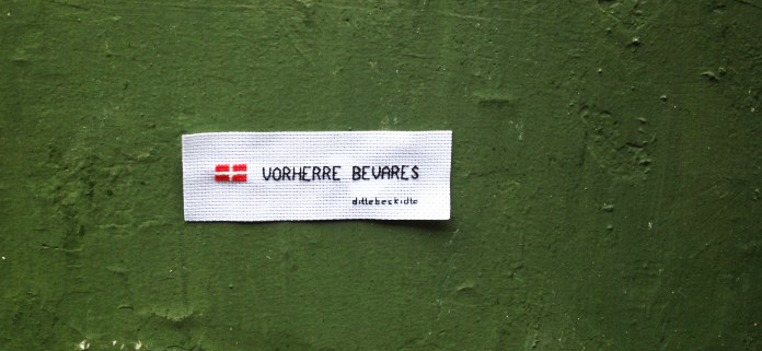 DK, vorherre bevares. Peter Fabers Gade, Nørrebro.