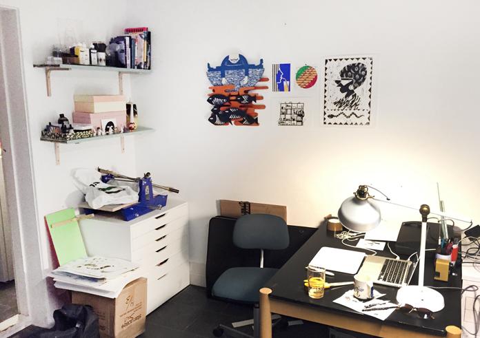 Min arbejdsplads hos kontorfællesskabet Kulkælderen.