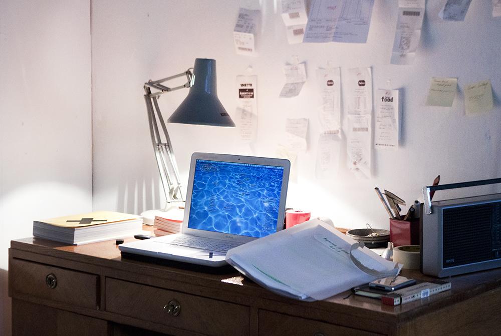 Piscines kontor som bl.a. deles med Ari Marteinsson fra designbureauet Haack_Marteinsson.