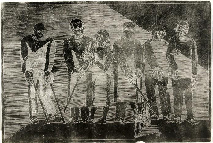 """""""Krigsblinde"""" af Dan Steerup-Hansen, fra 1952."""