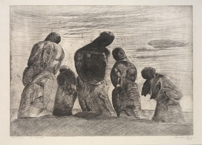"""""""De søgende"""" af Svend Wiig Hansen, fra 1958."""