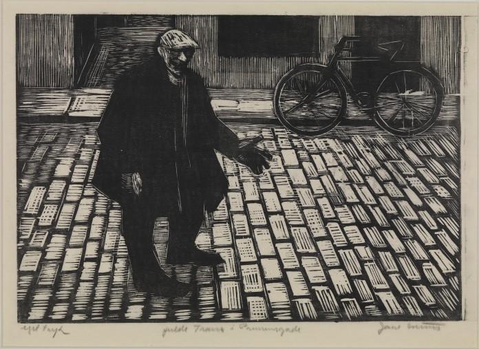 """""""Fulde Frans i Prinsensgade"""" af Jane Muus, fra 1957."""