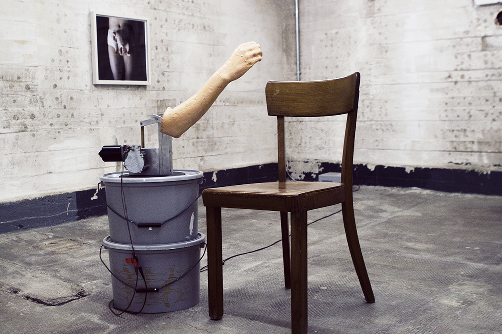Work by Sarah Lucas.