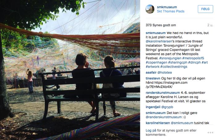 Opslag på SMK's Instagram d. 1. september 2015.