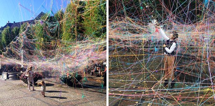 "Karoline H. Larsen ""Collective Strings / Jungle of Strings"" | Metropolis Festival 2015 | Fotos: Agnete Schlichtkrull & Karoline H. Larsen"