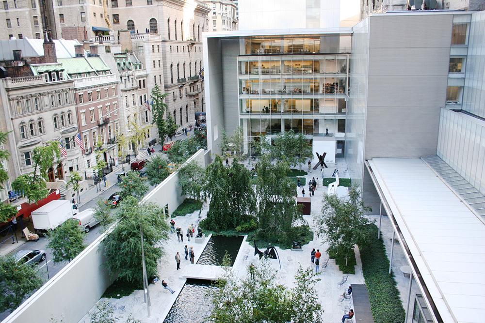 MoMA Museum of Modern Art (backyard).