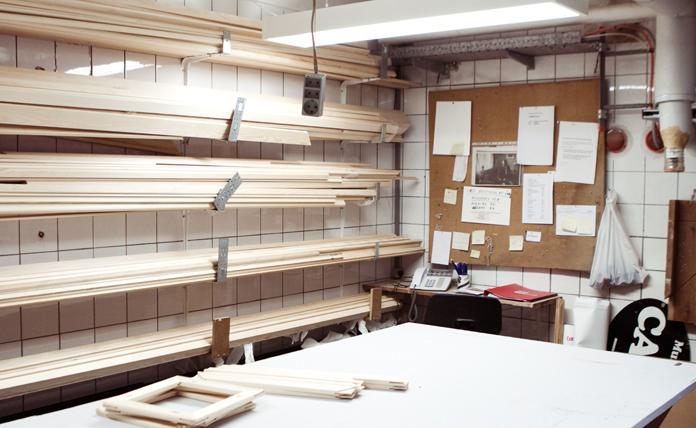 Detaljer fra Museum Ovartaci's væve- og rammeværksted.