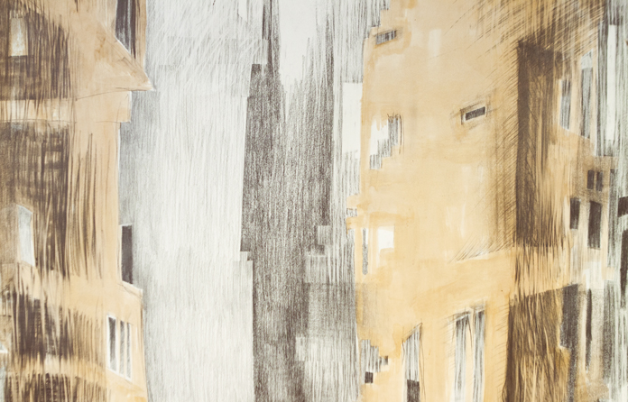 """Værker af Lone Pedersen fra udstillingen """"Med vilje""""."""