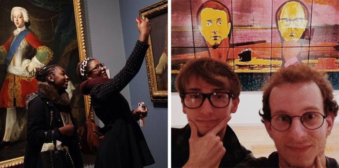 #artselfie, #museumselfie.