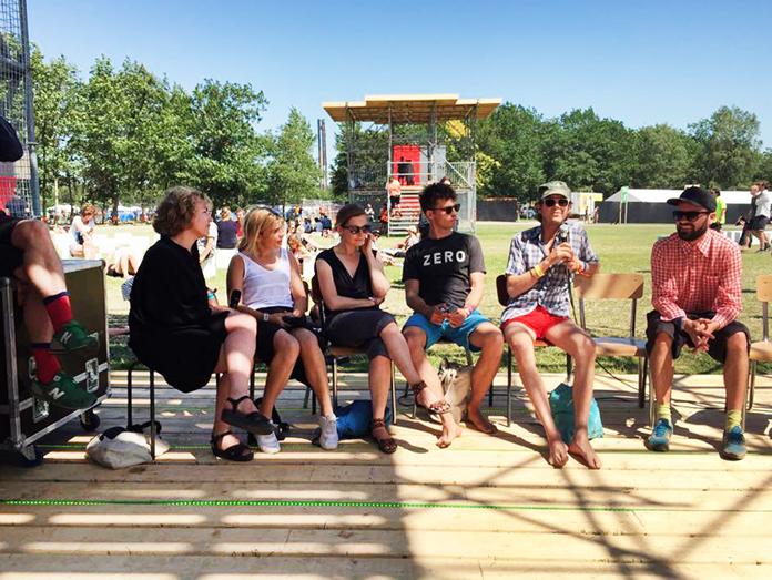 Paneldebat om Kunst i det offentlige rum med A-kassen, Wooloo, Camilla Berner og Nanna Balslev | Foto: Esben Weile Kjær.